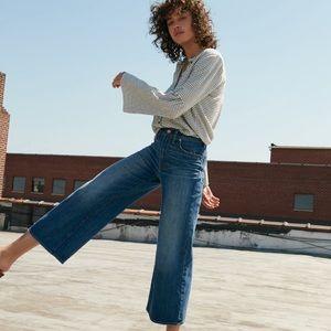 Madewell Wide Leg Crop Jeans High Waist 26